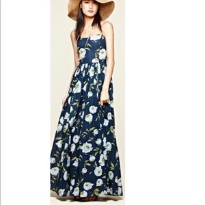 French connection spring bloom strapless maxi